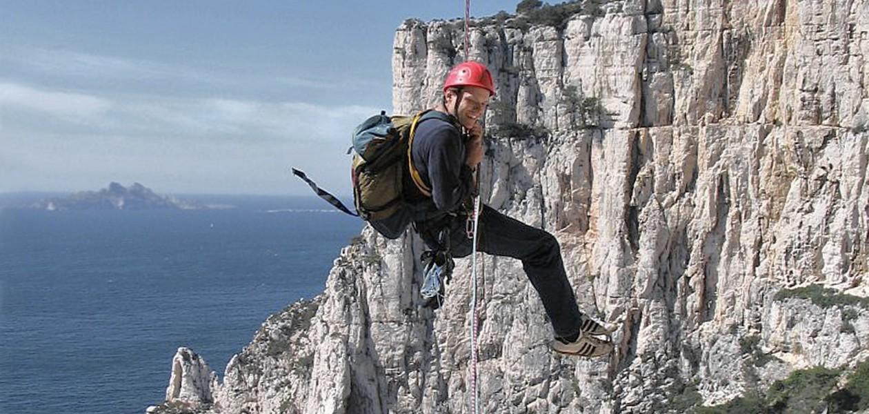 Foto im Klettergebiet der Calanque d'En Vau (Südfrankreich)