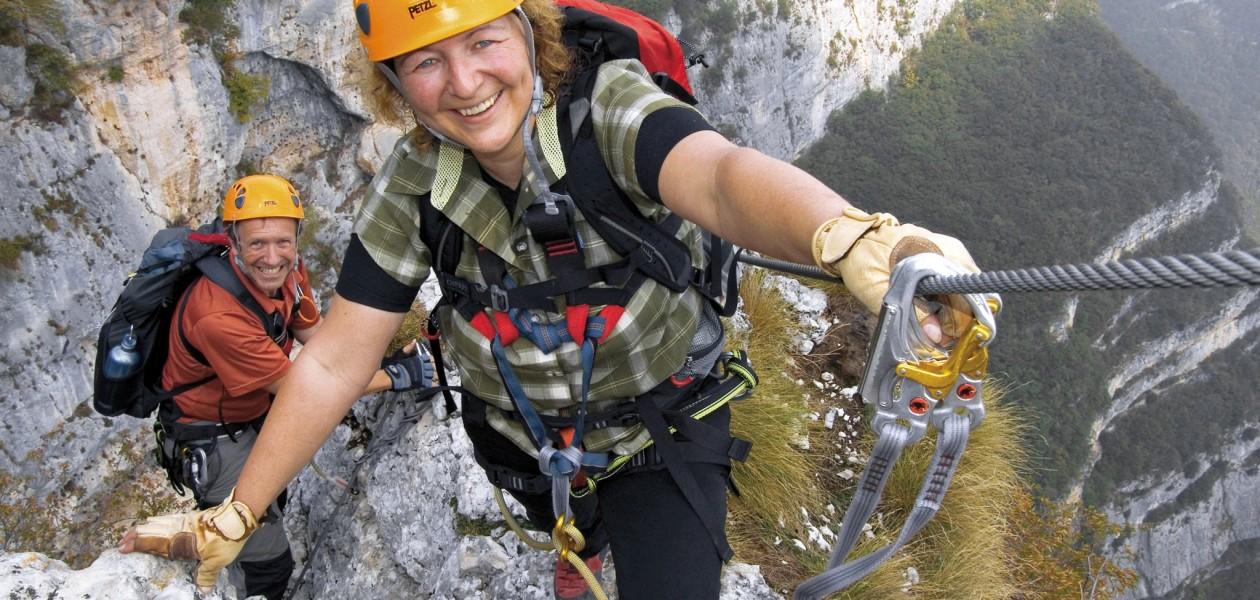 Foto auf dem Klettersteig Gerado Sega am Gardasee