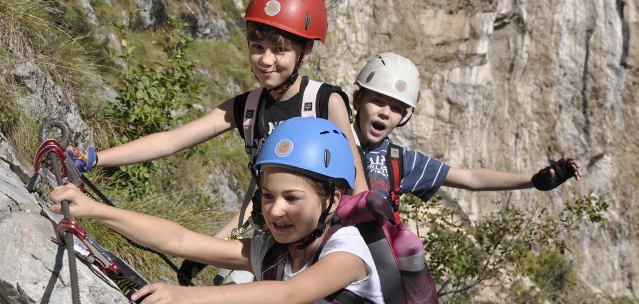 Foto am Klettersteig Colodri in Arco am Gardasee