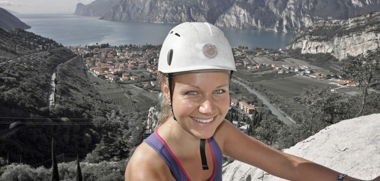 Foto vom Klettern in Belvedere mit guten Aussichten auf den Gardasee