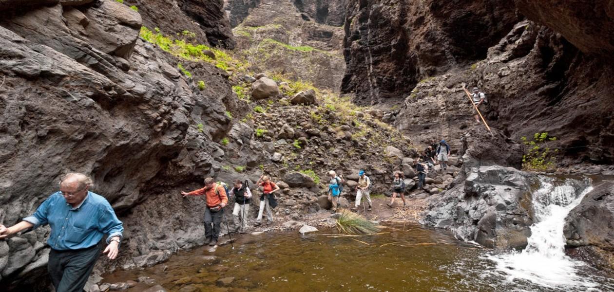 Foto von der Mascaschlucht beim Wandern auf Teneriffa