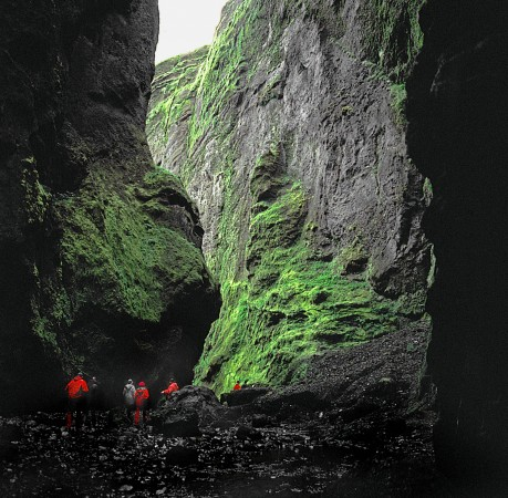 Foto von der Stakkholtsgjá in der Thorsmörk in Island
