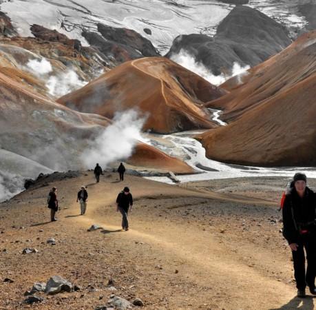Foto vom Hveradalir im Kerlingarfjöll in Island