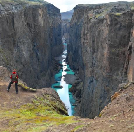Foto vom Hafrahvammar Canyon in Island