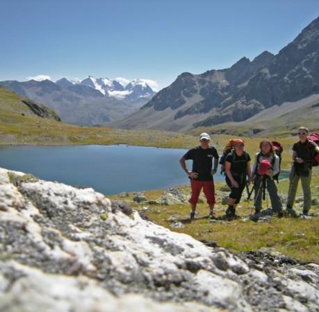 Foto auf dem Berninatrek in der Schweiz