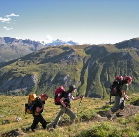Foto von den letzten Metern bis zur Hütte auf dem Berninatrek, Schweiz