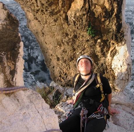 Foto vom Klettern in den Calanques (Südfrankreich)