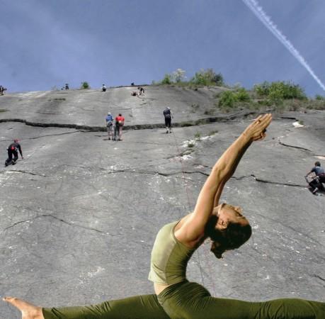 Foto vom Klettern und Yoga in Baone am Gardasee
