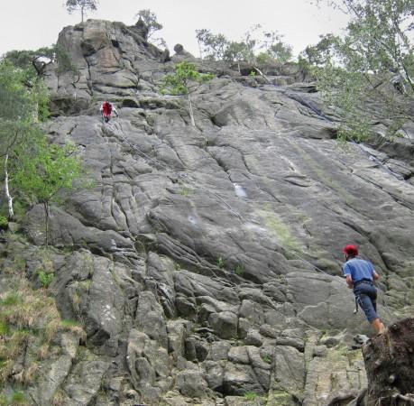 Foto von Kletterei an der Marienwand beim Kletterkurs im Harz