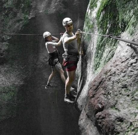 Foto auf dem Klettersteig Rio Salagoni am Gardasee