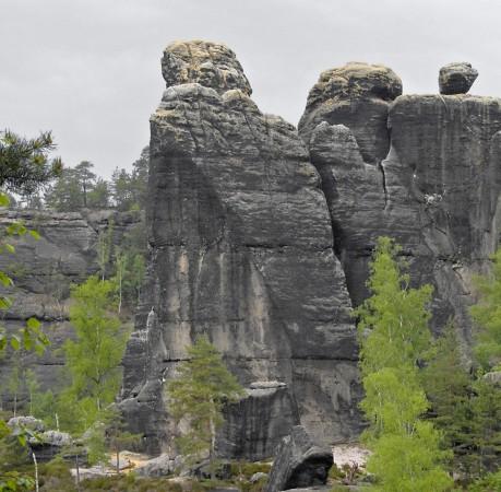 Foto von Sandsteintürmen in der Sächsichen Schweiz / Kletterkurs