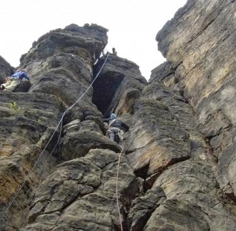 Foto von Sansteinfels bei der Kletterwoche in der Sächsischen Schweiz