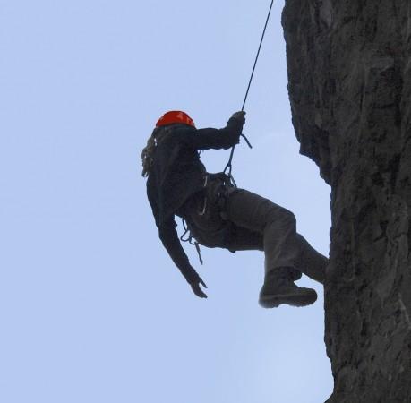 Foto vom Klettern am Roten Turm im Lauchagrund in Thüringen