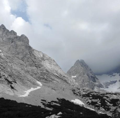 Foto mit Blick auf Steinberg und Blaueisspitze beim Kletterkurs in den Berchtesgadener Alpen