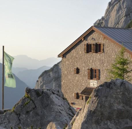 Foto von der Blaueishütte beim Kletterkurs in den Berchtesgadener Alpen