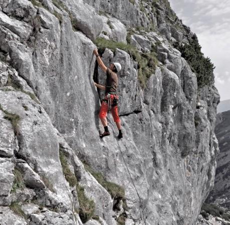 Foto mit Blick auf die Blaueishütte beim Kletterkurs in den Berchtesgadener Alpen
