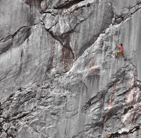 Foto vom Steinbergwand Klettergarten beim Kletterkurs in den Berchtesgadener Alpen