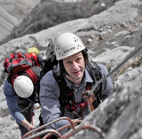 Foto auf dem Klettersteig Che Guevara am Gardasee