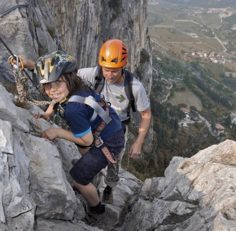 Foto auf dem Klettersteig Colodri in Arco am Gardasee