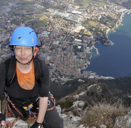 Foto auf dem Klettersteig Cima SAT am Gardasee