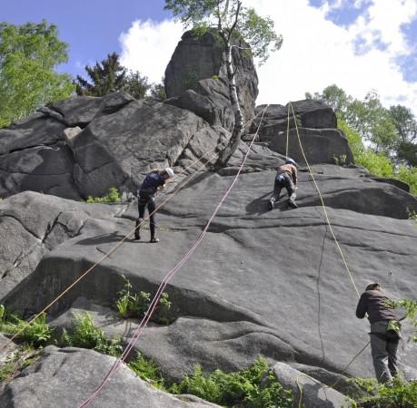 Foto von Kletterlust auf rauem Granit beim Kletterkurs im Harz