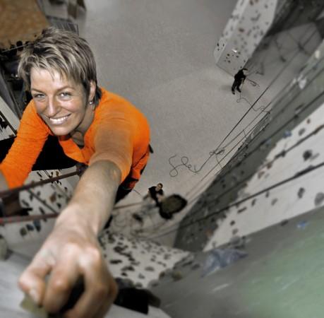"""Foto """"Ganz oben"""" beim Kletterkurs in der Kletterhalle"""