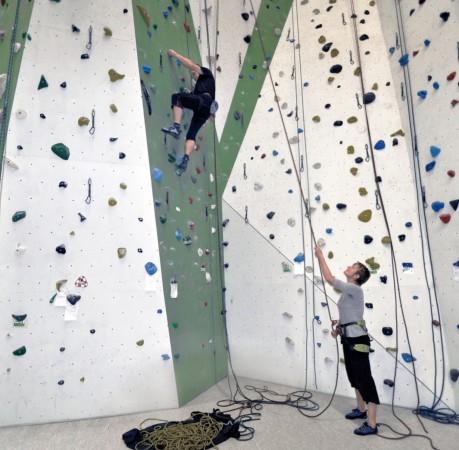 Foto vom Kletterkurs in der Kletterhalle