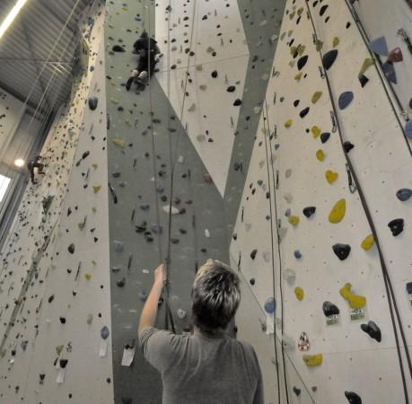 """Foto """"Hoch hinaus"""" vom Kletterkurs in der Kletterhalle"""