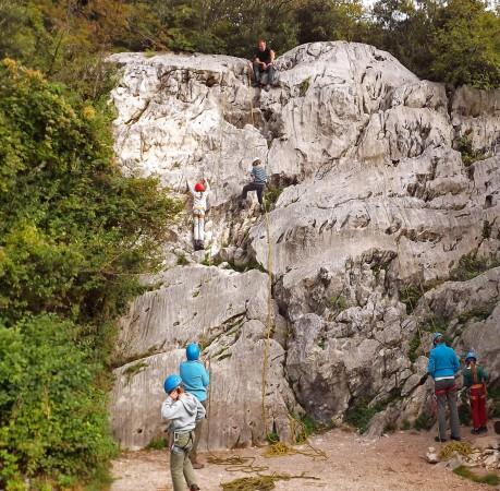 Foto vom Klettern in Muro dell Asino am Gardasee