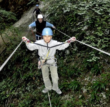 Foto am Klettersteig Rio Salagoni am Gardasee