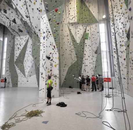 Foto vom Kletterkurs in der Kletterhallle