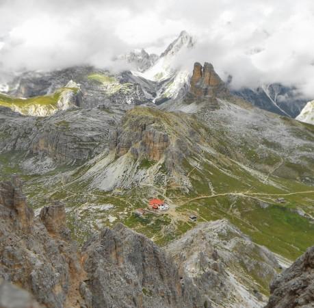 Foto von der Dreizinnenhütte in den Sextener Dolomiten