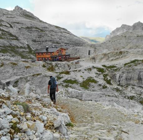 Foto an der Büllelejochhütte in den Sextener Dolomiten