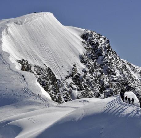 Foto vom Breithorn oberhalb von Zermatt (Schweizer Wallis)
