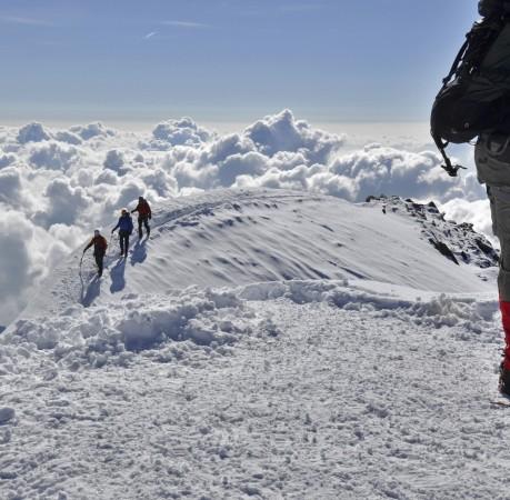 Foto vom Gipfel des Breithorn (4164m) im Schweizer Wallis