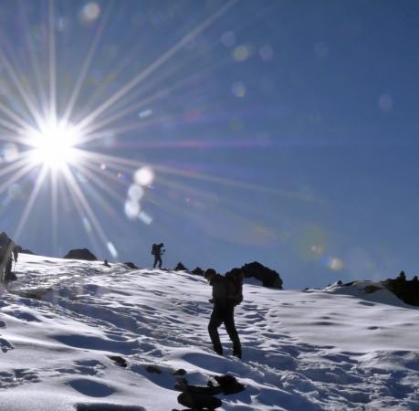 Foto vom Anstieg zum High Camp des Mera Peak