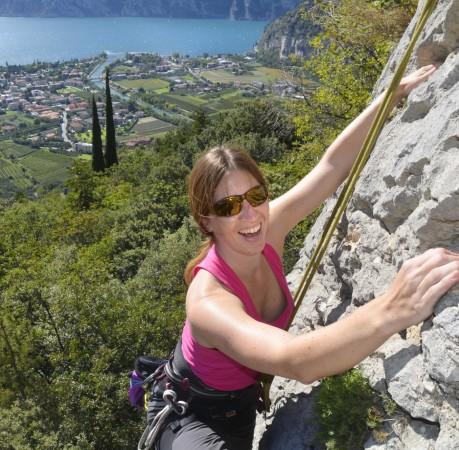 Foto vom Klettern in Belvedere hoch über dem Gardasee