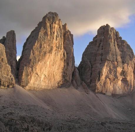 Foto von den Dreizinnen in den Sextener Dolomiten