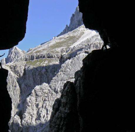 Foto auf dem Alpiniklettersteig in den Sextener Dolomiten