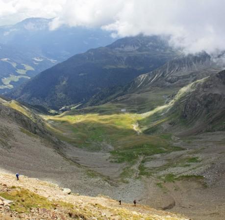 Foto mit Blick ins Passeiertal bei der Wanderwoche in Südtirol
