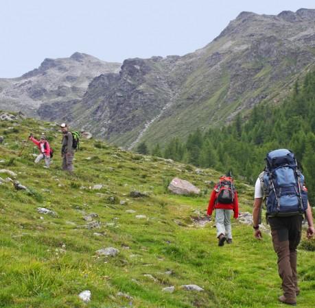 Foto vom Aufstieg zum Nagelstein bei der Wanderwoche in Südtirol