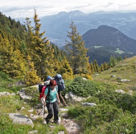 Foto vom Weg zu den Spronser Seen bei der Wanderwoche in Südtirol